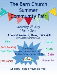 Barn Summer Fair 2016 poster