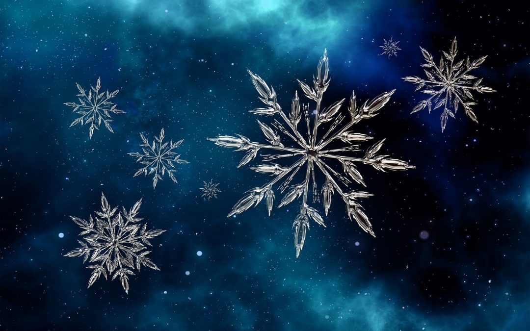 A picture of snowflakes