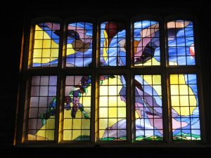 Stained Glass Window at The Barn