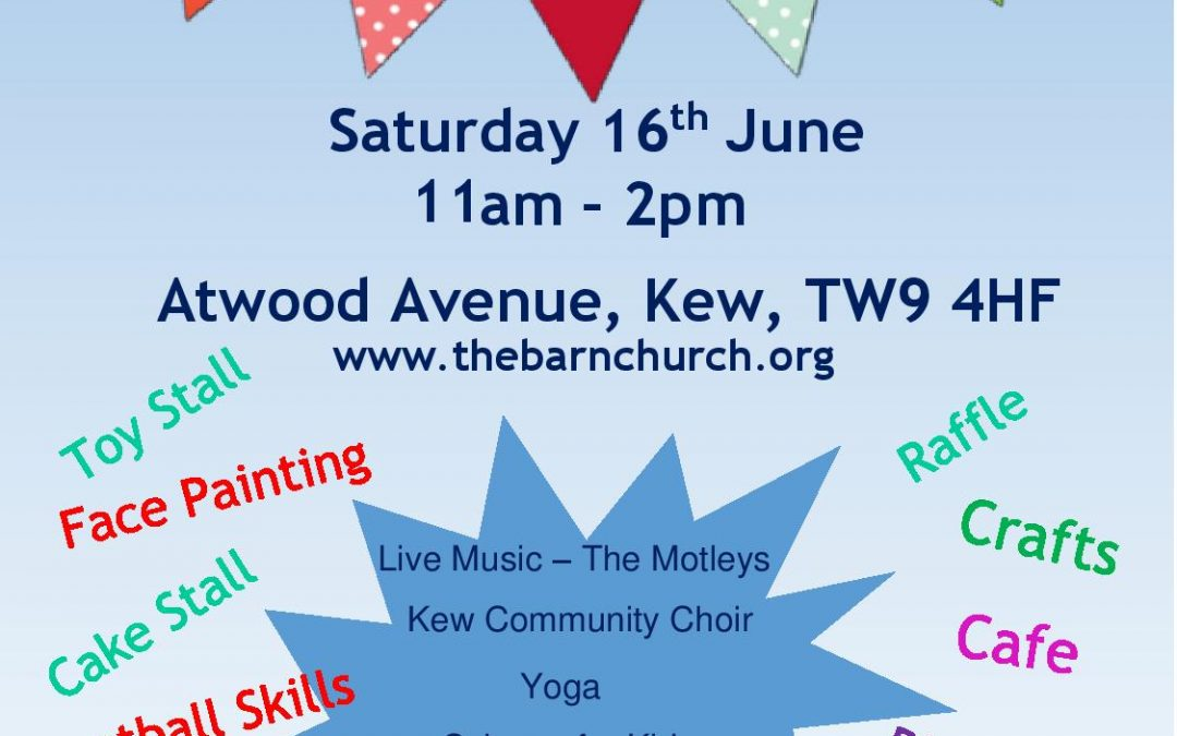Summer Fair – Sat 16th June 11-2
