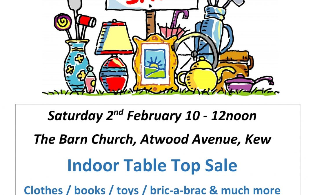 Table Top Event – Saturday 2nd February 10am until 12 noon