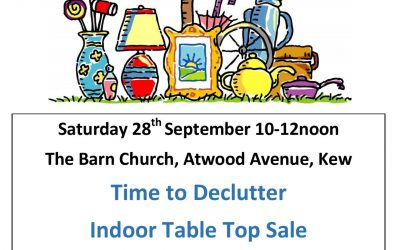 Table top sale 28th September