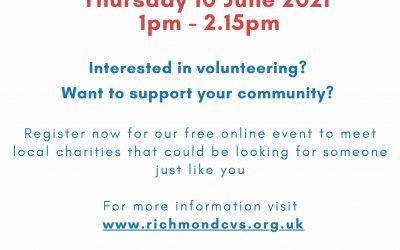Richmond CVS – Volunteer Recruitment Event – 10th June